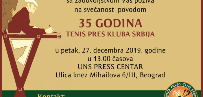 35 GODINA TENIS PRES KLUBA SRBIJA
